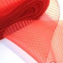 15cm Side Pleated Red Milliner's Crinoline Hat Trim